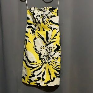 Black and yellow floral dress from Express